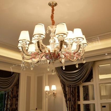 天津水晶蜡烛灯